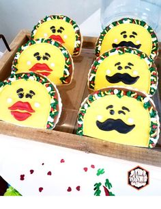 Taco Sugar Cookies from a Taco Bout Love Valentine Taco Party | Mandy's Party Printables #valentineparty #tacoparty #tacoboutlove #ilovetacos #MPP #fiesta