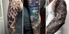 A sleeve tattoo can often be described as a combination or collection of various designs strategically placed on an individuals arm or leg to form one seemingly continuous work. However, sleeves can also be composed of a single continuous pattern or color. The terms tattoo sleeve, full sleeve, half sleeve, etc. are generic terms given to tattoo designs covering the arm or leg in a close-knit pattern resembling that of a sleeve. The validity of this term is occasionally brought into question…