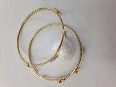 Boucles d'oreilles acier doré avec étoiles 60mm - Lovelly