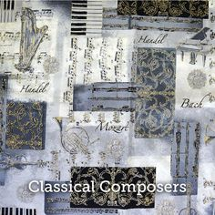 """Classical Composers Print 20x20"""" Pillow Case - by SelemeHealth on Etsy"""