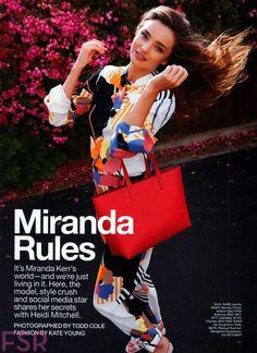 Miranda Kerr Lucky Magazine June/July 2014