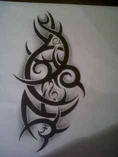 tribal tattoo design with music note by tattoosuzette on DeviantArt