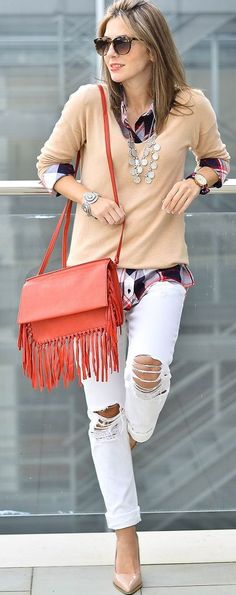 Red Fringes Streetstyle