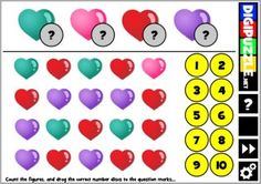 Valentine CountIt Valentine Games, Learn To Count, Yoshi, Learning, Kids, Children, Boys, Children's Comics, Boy Babies