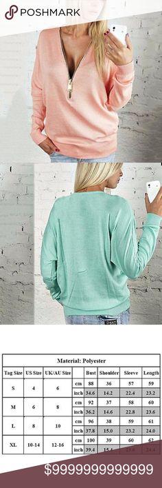 ❤️COMING SOON❤️ pink long sleeve with zipper XL pink long sleeve to with gold zipper in the front half way down Tops Sweatshirts & Hoodies