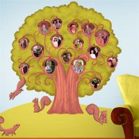 Awesome Acorn Family Tree Wall Sticker. I love this!!