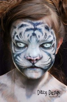 White Tiger by Daizy Design face paint schminkdesign schminken