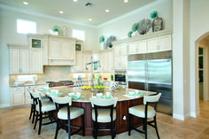 A great kitchen with a great island perfect for dining. (Toll Brothers at Frenchman's Harbor, FL)