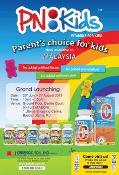 29 Jul-2 Aug 2015: PN:Kids Vitamin For Kids Grand Launching Event