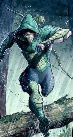 Green Arrow by Juan Ferreyra Dc Comics Heroes, Dc Comics Characters, Dc Comics Art, Marvel Dc Comics, Green Arrow, Comic Books Art, Comic Art, Arrow Black Canary, Arrow Art