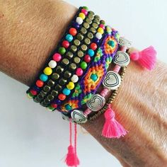 Set of 4 Coloured Bracelets, Stack on your arm for Summer Fun.. Price includes…