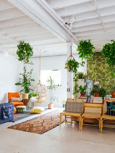 Justina Blakeney's New Jungalow HQ is So Droolworthy- photos- Dabito- via design addict mom