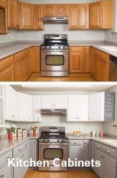 Before And After Kitchen Makeovers Simple Kitchen Makeover with Painted Cabinets.Simple Kitchen Makeover with Painted Cabinets. Kitchen Cabinets Before And After, Update Kitchen Cabinets, Kitchen Upgrades, Kitchen Redo, Kitchen Makeovers, Kitchen Remodeling, Redoing Kitchen Cabinets, Diy Kitchen Makeover, Kitchen Sinks
