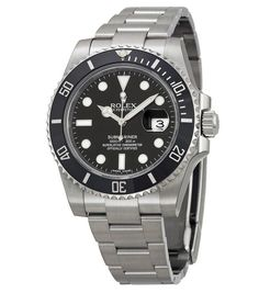 Rolex Submariner Black Dial Ceramic Bezel Steel Men's Watch - Submariner - Rolex - Shop Watches by Brand - Jomashop Rolex Shop, Rolex Submariner Black, Submariner Watch, Rolex Gmt, Stainless Steel Rolex, Stainless Steel Bracelet, Tudor Black Bay, Pre Owned Rolex, Breitling Watches