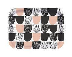 Designed by Hanna Konola Material: Scandinavian Birch Wood Size: Dishwasher Safe Square Tray, Wood Sizes, Silk Screen Printing, Ceramic Mugs, Finland, Scandinavian, Ceramics, Pattern, Pink