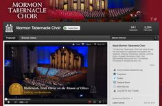 The world-renowned Mormon Tabernacle Choir has a YouTube Channel where you can hear uplifting music and inspirational messages. You can view and subscribe to the channel by clicking on this image.