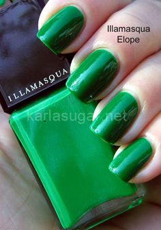 I detest green nail polish overall but this is appealing somehow.