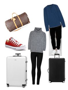 """""""Traviling"""" by fashion-girl-katrina on Polyvore featuring Rimowa, Louis Vuitton, Wolford, Yves Saint Laurent, Converse, Farah and Schiesser"""