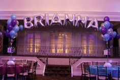 Mylar Name in Balloons - BAT MITZVAHS