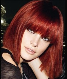 red bob with long bangs - think I might try for this xox G