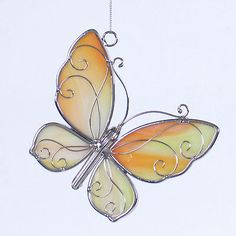 Stained+glass+yellow+butterfly+sun+catcher