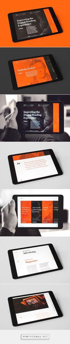 Verso Digital Magazine by Morten Håvik Web Responsive, Ui Web, Site Web Design, Ux Design, Gui Interface, Interface Design, Mise En Page Web, Design Creation, Tablet Ui