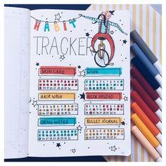My habittracker for Bullet Journal Month, Bullet Journal Notebook, Bullet Journal Tracker, Bullet Journal Ideas Pages, Bullet Journal Spread, Bullet Journal Layout, Bullet Journal Inspiration, Bujo, Bullet Journal Aesthetic