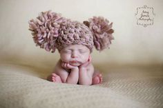 Newborn Photography Prop Baby Girl Infant by chloescrochetcloset, $35.00    How cute is this! HA
