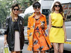 The Fashion Trio. Milan Fashion Week, Spring 2015.
