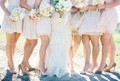 Vera Wang Sarah Seven Louboutins Bridesmaids Blush Pink