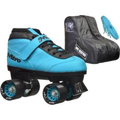 Epic Nitro Turbo Blue Speed Roller Skates Package