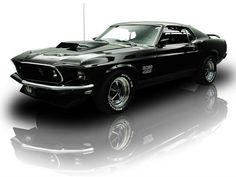 1969 Black Ford Mustang Boss 429 V8 Toploader 4 Speed. Via: RK Motors Charlotte, muscle, classic and collector cars for sale