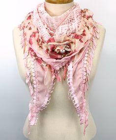 Petal Pink Shabby Chic Scarf