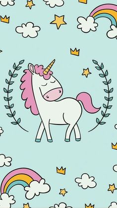 57 best unicorn phone wallpaper images in 2018 Unicornios Wallpaper, Phone Wallpaper Images, Cute Wallpaper For Phone, Pattern Wallpaper, Wallpaper Backgrounds, Cute Backgrounds, Cute Wallpapers, Unicornio Poster, Whatsapp Pink
