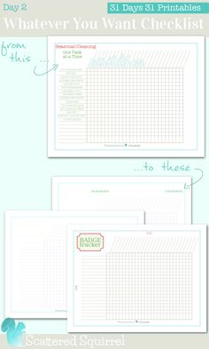 Day 2 of the 31 Days 31 Printables bring 3 newly updated checklists. Two blank ones and one brownie/scout/girl guide badge tracker checklsit. Planner Pages, Life Planner, Printable Planner, Free Printables, 2015 Planner, Planner Ideas, Happy Planner, Packing List Template, Checklist Template