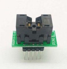 Simple MSOP10 to DIP10 IC test socket adapter SSOP10 0.5mm programming adaptor