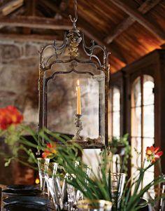 Vintage Lantern #Home #Tuscan #Design - Find more Ideas on www.IrvineHomeBlog.com/HomeDecor  Irvine, California - Christina Khandan ༺༺ ℭƘ ༻༻