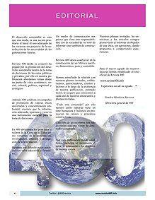 Editorial del Número de Octubre 2015 de Revista 400   / Desarrollo Sustentable