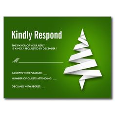 Creative Christmas Or Holiday Party RSVP Postcard