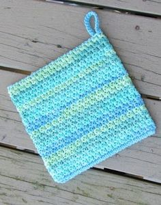 How to Crochet an Easy Peasy Pot Holder, Free Crochet Pattern