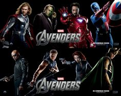 映画『アベンジャーズ THE AVENGERS』ポスター(8)  ▼ポスター画像クリックで拡大します。