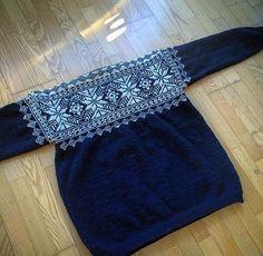 Så blev jeg endelig færdig med sweateren til min bror!