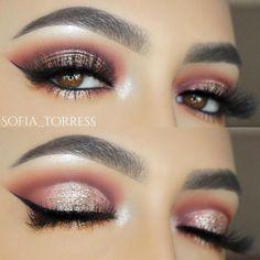 Flattering Ideas for Light Brown Eyes Makeup ★ See more: http://glaminati.com/light-brown-eyes-makeup/