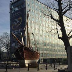 """Paris 5e - IMA 1 rue des Fossés-Saint-Bernard - Aujourd'hui on visite l'exposition """"Aventuriers des mers""""... On vous raconte tout très vite !  #exposition #culture #aventuriers #ima #paris5"""