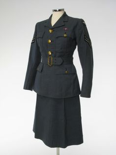 Suit, 1941, UK, Manchester City Galleries, Worn by a member of the Women's Auxiliary Air Force