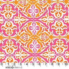 Sculpted Garden in Creamsicle, Lush, Patty Young, Michael Miller, END OF BOLT Sale 1 Yard 15 inches. $12.35, via Etsy.