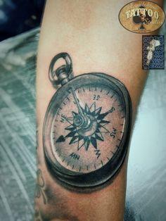 Compass tattoo by Cesar Hencklein