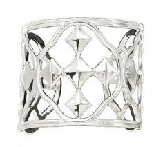 """Gracewear Collections """"Shield of Faith"""" Rhodium Plated Cuff Bracelet Gracewear Collections. $88.00. Cuff bracelet. Rhodium plated silver. Designed by Wendy Strong Lupas and Mary Strong Blackburn. 3 inches wide"""
