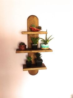 94 wood wall shelves designs that inspire to add to the beauty of your home space - Bestplitka Inc Wooden Floating Shelves, Wooden Wall Shelves, Wall Shelves Design, Wooden Walls, Shelf Wall, Wall Mounted Plant Holder, Indoor Plant Shelves, Essential Oil Storage, Wood Colors