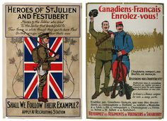 Canadian propaganda posters from the First World War